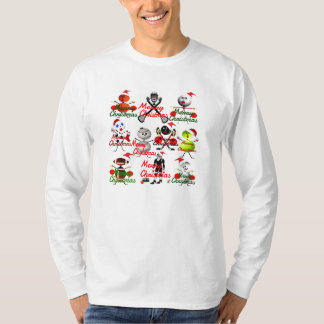 Sports Filled Christmas Cartoons T-Shirt