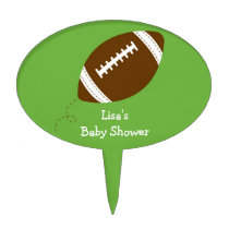 Sports Football Baby Shower Cake Topper