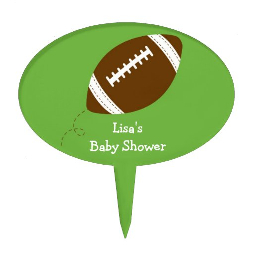 sports football baby shower cake topper zazzle