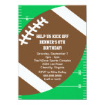 Sports Football Birthday Party 4.5x6.25 Paper Invitation Card