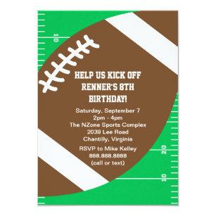 football birthday invitations zazzle