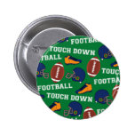 SPORTS Football Fun Athlete Colorful Pattern 2 Inch Round Button
