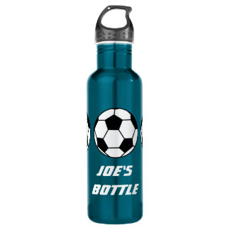 Sports Football On Your Customizable Stainless Steel Water Bottle
