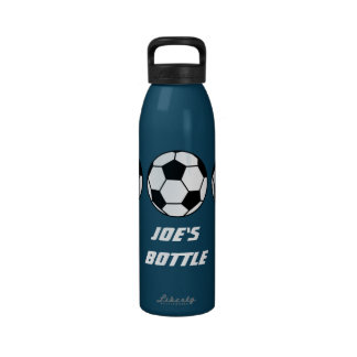 Sports Football On Your Customizable Water Bottle