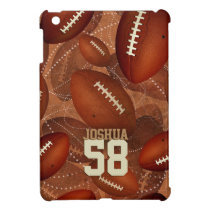 Sports football pattern his name jersey number case for the iPad mini