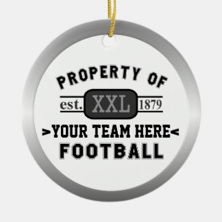 Sports Football Property of Your Team Customized Ceramic Ornament