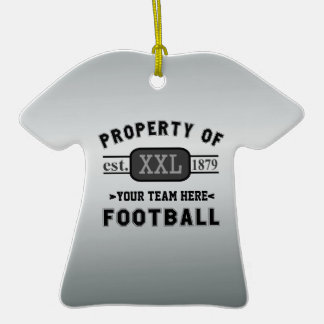 Sports Football: Property of Your Team Customized Christmas Tree Ornaments