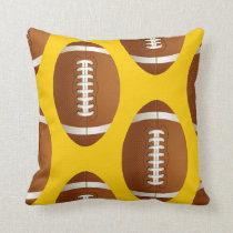 sports football throw pillow