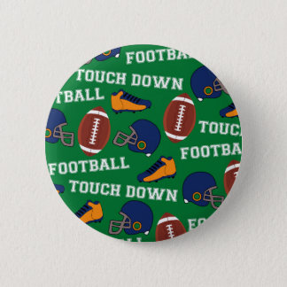 SPORTS Football Touch Down Fun Colorful Pattern Button