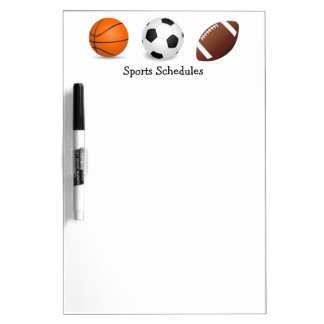 Sports Game Practice Schedules Dry-Erase Whiteboards