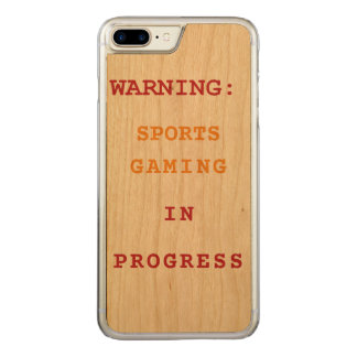 Sports Gaming In Progress Carved iPhone 8 Plus/7 Plus Case