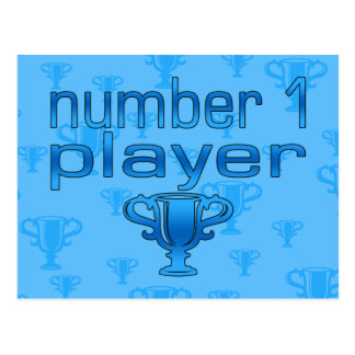 Sports Gifts for Boys : Number 1 Player Postcard