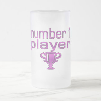 Sports Gifts for Girls : Number 1 Player Frosted Glass Beer Mug