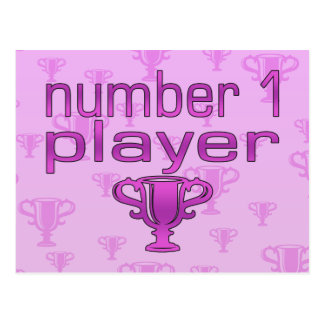 Sports Gifts for Girls : Number 1 Player Postcard