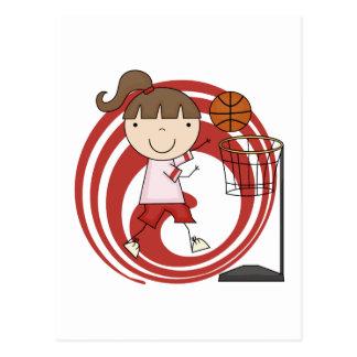 Sports Girl - Basketball Tshirts and Gifts Postcard