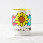 Sports Girl - Basketball Two-Tone Coffee Mug