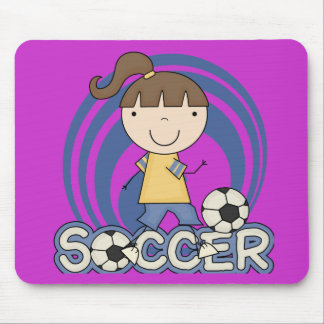 Sports Girl - Soccer T-shirts and Gifts Mouse Pad