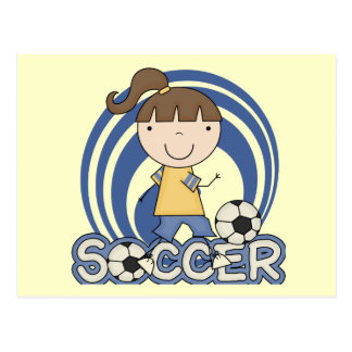 Sports Girl - Soccer T-shirts and Gifts Postcard