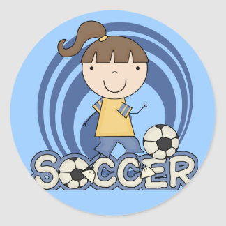 Sports Girl - Soccer T-shirts and Gifts Classic Round Sticker