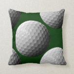 sports golf balls throw pillow