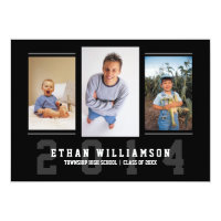Sports Guy Photo Graduation Party Invitation
