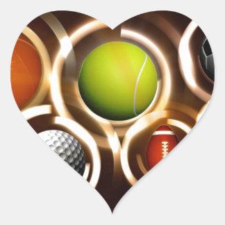 Sports Heart Sticker