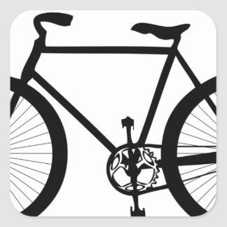 Sports Hobby Fun Ride Bicycle Destiny Square Sticker