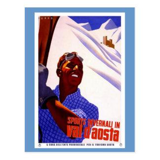 Sports In Val D'Aosta Postcard