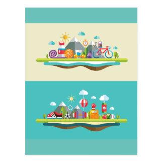 Sports island postcard