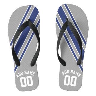 Sports Jersey Custom Name Number Flip Flops