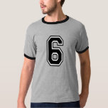 Sports Jersey Number 6 T-Shirt