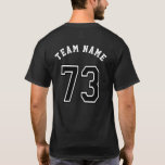 Sports Jersey Number 73 T-Shirt