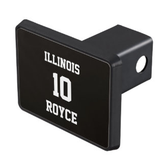 Sports Jersey Personalizable Smoky Black Hitch Covers