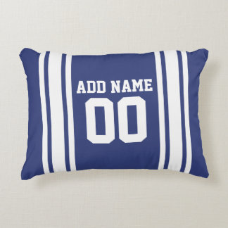 Sports Jersey with Custom Name and Number Accent Pillow