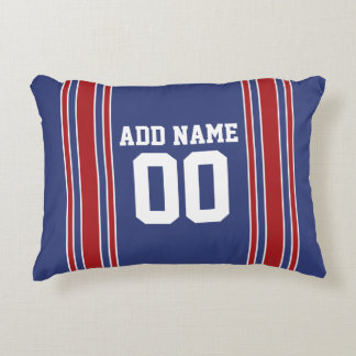 Sports Jersey with Custom Name and Number Decorative Pillow
