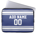 Sports Jersey with Custom Name and Number Laptop Computer Sleeves