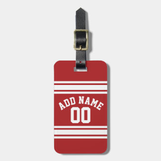 Sports Jersey with Your Name and Number Bag Tag