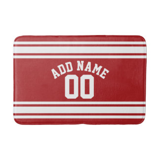 Sports Jersey with Your Name and Number Bathroom Mat