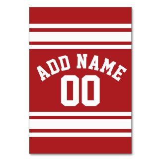 Sports Jersey with Your Name and Number Card