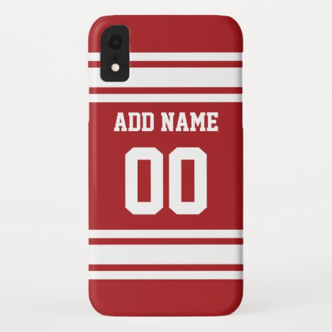 Sports Jersey with Your Name and Number iPhone XR Case