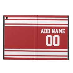 Sports Jersey With Your Name And Number Cover For Ipad Air at Zazzle