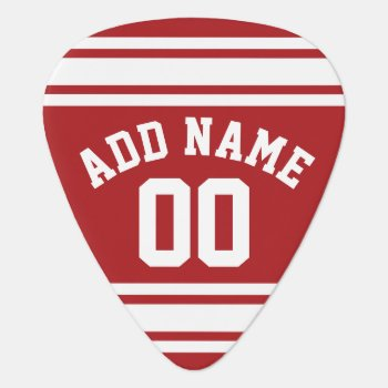 Sports Jersey With Your Name And Number Guitar Pick by MyRazzleDazzle at Zazzle