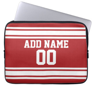 Sports Jersey with Your Name and Number Laptop Sleeve