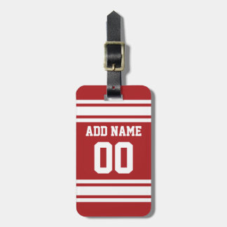 Sports Jersey with Your Name and Number Luggage Tag