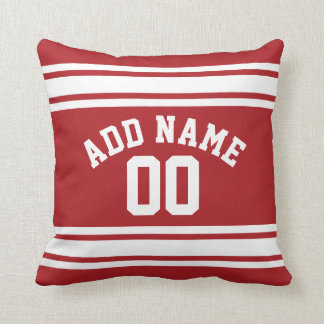 Sports Jersey with Your Name and Number Pillow