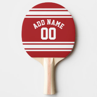 Sports Jersey with Your Name and Number Ping-Pong Paddle