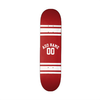 Sports Jersey with Your Name and Number Skateboard Deck