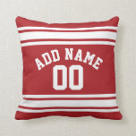 Sports Jersey with Your Name and Number Throw Pillow