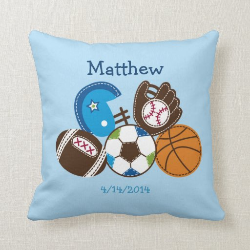 Sports Keepsake Pillow