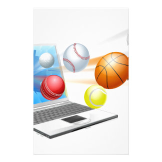 Sports laptop app concept stationery